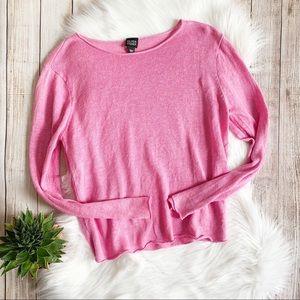 Eileen Fisher Pink Lightweight Linen Sweater
